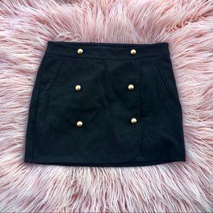 girls • gapKids • black mini skirt w/ gold accent